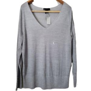 Lane Bryant gray V-neck sweater size 18/20
